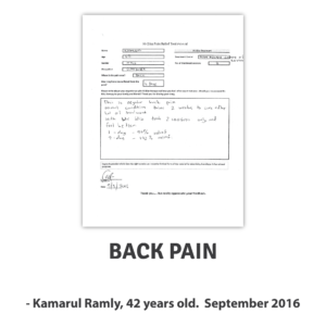 Kamarul R ~ Back Pain