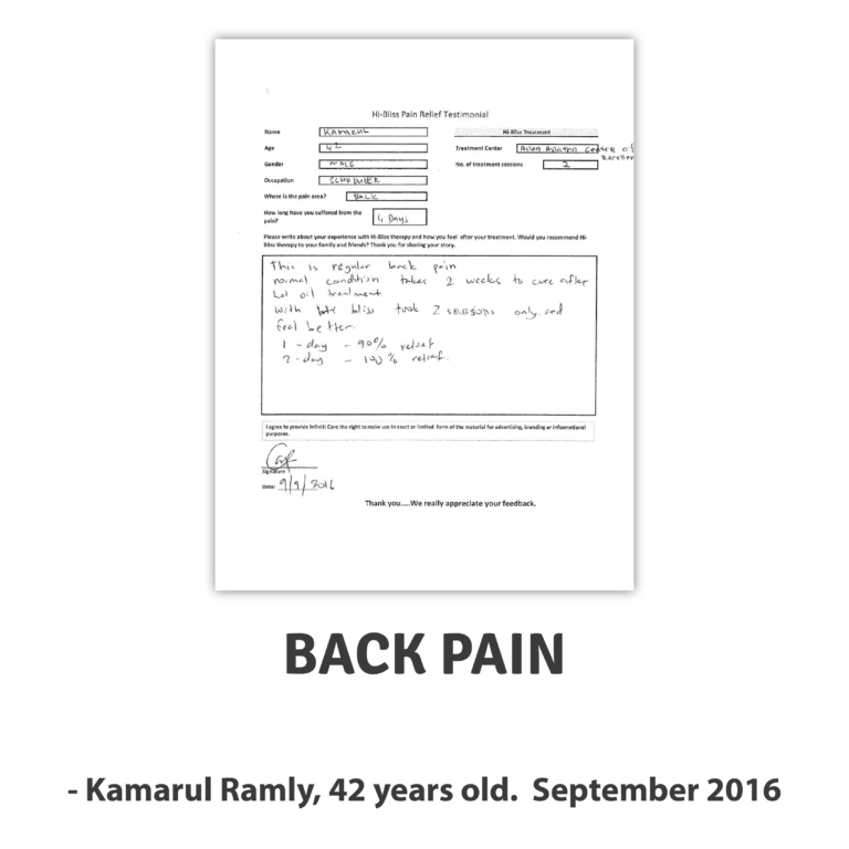 Kamarul R ~ Back Pain