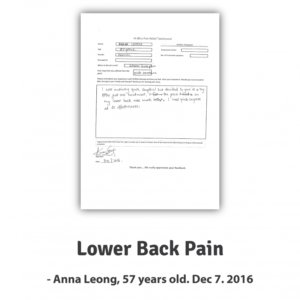 Anna L ~ Lower Back Pain