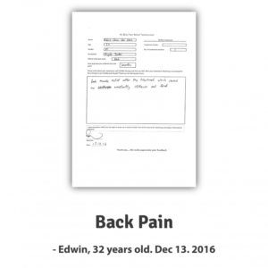 Edwin ~ Back Pain
